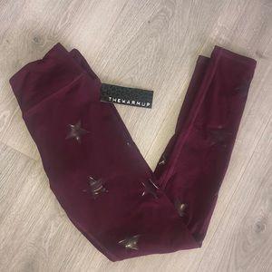 Jessica Simpson Pants & Jumpsuits - Jessica Simpson Warm Up Maroon Legging Star small